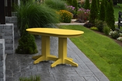 A & L Furniture - 5' Oval Dining Table - 4171 - Lemon Yellow Poly
