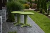 A & L Furniture - 5' Oval Dining Table - 4171 - Tropical Lime Green Poly