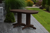 A & L Furniture - 5' Oval Dining Table - 4171 - Tudor Brown Poly