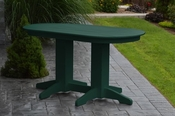 A & L Furniture - 5' Oval Dining Table - 4171 - Turf Green Poly
