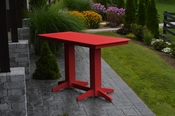 A & L Furniture - 6' Bar Table - 5102 - Bright Red Poly