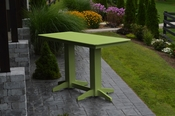 A & L Furniture - 6' Bar Table - 5102 - Tropical Lime Green Poly