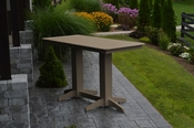 A & L Furniture - 6' Bar Table - 5102 - Weathered Wood Poly