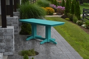 A & L Furniture - 6' Dining Table - 4162 - Aruba Blue Poly