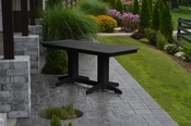 A & L Furniture - 6' Dining Table - 4162 - Black Poly