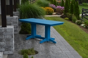 A & L Furniture - 6' Dining Table - 4162 - Blue Poly