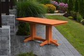 A & L Furniture - 6' Dining Table - 4162 - Bright Orange Poly