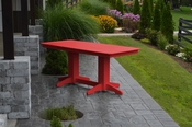 A & L Furniture - 6' Dining Table - 4162 - Bright Red Poly