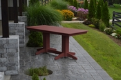 A & L Furniture - 6' Dining Table - 4162 - Cherry Poly