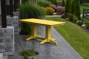 A & L Furniture - 6' Dining Table - 4162 - Lemon Yellow Poly