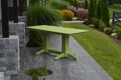 A & L Furniture - 6' Dining Table - 4162 - Tropical Lime Green Poly