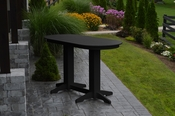 A & L Furniture - 6' Oval Bar Table - 5112 - Black Poly