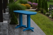 A & L Furniture - 6' Oval Bar Table - 5112 - Blue Poly