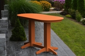 A & L Furniture - 6' Oval Bar Table - 5112 - Bright Orange Poly