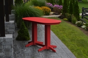 A & L Furniture - 6' Oval Bar Table - 5112 - Bright Red Poly