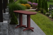 A & L Furniture - 6' Oval Bar Table - 5112 - Cherry Poly