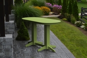 A & L Furniture - 6' Oval Bar Table - 5112 - Tropical Lime Green Poly