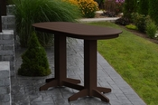 A & L Furniture - 6' Oval Bar Table - 5112 - Tudor Brown Poly
