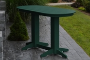 A & L Furniture - 6' Oval Bar Table - 5112 - Turf Green Poly