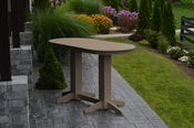 A & L Furniture - 6' Oval Bar Table - 5112 - Weathered Wood Poly