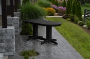 A & L Furniture - 6' Oval Dining Table - 4172 - Black Poly