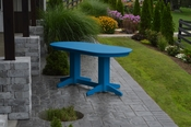 A & L Furniture - 6' Oval Dining Table - 4172 - Blue Poly