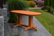 A & L Furniture - 6' Oval Dining Table - 4172 - Bright Orange Poly