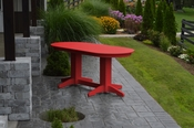 A & L Furniture - 6' Oval Dining Table - 4172 - Bright Red Poly