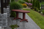 A & L Furniture - 6' Oval Dining Table - 4172 - Cherry Poly