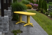 A & L Furniture - 6' Oval Dining Table - 4172 - Lemon Yellow Poly