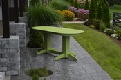 A & L Furniture - 6' Oval Dining Table - 4172 - Tropical Lime Green Poly