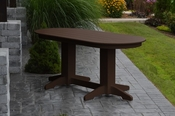 A & L Furniture - 6' Oval Dining Table - 4172 - Tudor Brown Poly