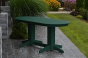 A & L Furniture - 6' Oval Dining Table - 4172 - Turf Green Poly