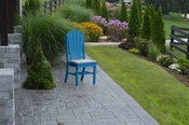 A & L Furniture - Adirondack Dining Chair - 4104 - Blue Poly