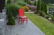 A & L Furniture - Adirondack Dining Chair - 4104 - Bright Red Poly
