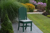 A & L Furniture - Adirondack Dining Chair - 4104 - Turf Green Poly