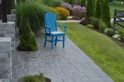 A & L Furniture - Adirondack Dining Chair with Arms - 4114 - Blue Poly