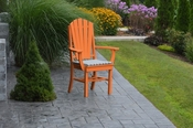 A & L Furniture - Adirondack Dining Chair with Arms - 4114 - Bright Orange Poly