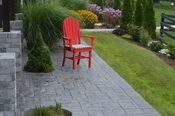 A & L Furniture - Adirondack Dining Chair with Arms - 4114 - Bright Red Poly