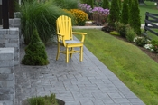 A & L Furniture - Adirondack Dining Chair with Arms - 4114 - Lemon Yellow Poly