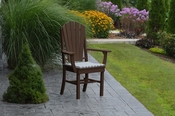 A & L Furniture - Adirondack Dining Chair with Arms - 4114 - Tudor Brown Poly