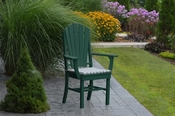A & L Furniture - Adirondack Dining Chair with Arms - 4114 - Turf Green Poly