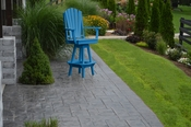 A & L Furniture - Adirondack Swivel Bar Chair withArms - 4124 - Blue Poly