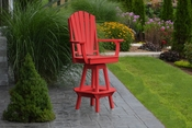 A & L Furniture - Adirondack Swivel Bar Chair withArms - 4124 - Bright Red Poly