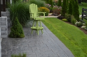 A & L Furniture - Adirondack Swivel Bar Chair withArms - 4124 - Tropical Lime Green Poly