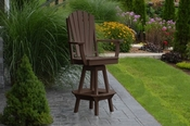 A & L Furniture - Adirondack Swivel Bar Chair withArms - 4124 - Tudor Brown Poly