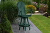 A & L Furniture - Adirondack Swivel Bar Chair withArms - 4124 - Turf Green Poly