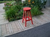 A & L Furniture - Bar Stool - 4130 - Bright Red Poly