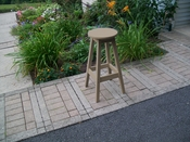 A & L Furniture - Bar Stool - 4130 - Weathered Wood Poly
