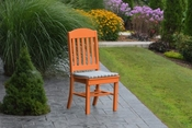 A & L Furniture - Classic Dining Chair - 4100 - Bright Orange Poly